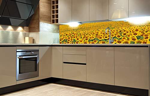 DIMEX LINE Sticker crédence - Cuisine Sunflowers 180 x 60 cm   Crédences adhésives