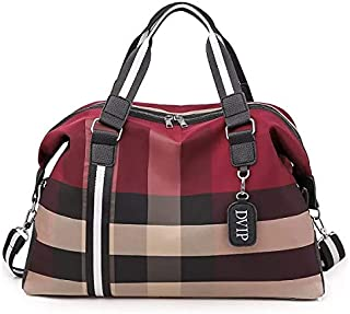 Shoulder Portable Luxury Bag For Travel Sports and Leisure Use | Fitness Bag For Men's and Women's (Maroon)
