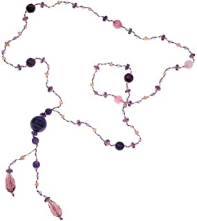 Gemstone Beads Y Drop Opera Length Long Necklace, 28 inches