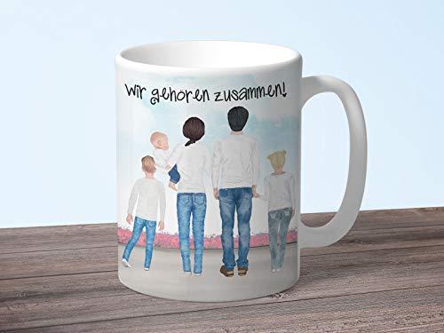 Tachinedas Kreativshop Personalisierte Tasse Familie mit eigenem Text