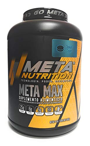 Meta Nutrition, Meta Max 4Lbs, Cookies and Cream (Galletas y Crema).