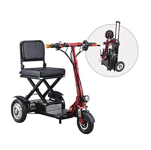 Langlin Ancianos eléctrico Scooter Portátil Plegable Scooters eléctricos Triciclo 3 Ruedas Scooter de energía Velocidad máxima 20 Km/H 35KM Funcionamiento de la Distancia