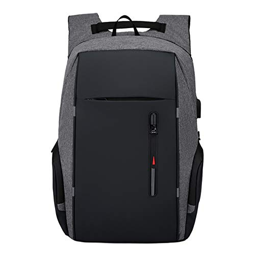 Backpack Men USB Charging Waterproof Laptop Backpack Women Casual Oxford Male Business Bag 15.6 Inch Computer Notebook Backpacks (Color : Gray)