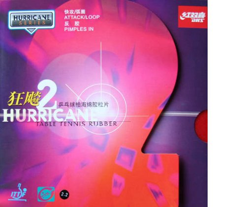 DHS Hurricane-2 Table Tennis Rubber Sheet (Red 39)