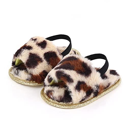 WXDC Zapatos cálidos para niñas, Zapatillas púrpuras para bebés de Pelusa, Zapatos de Cuna con Fondo Suave Antideslizante para niñas pequeñas