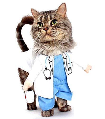 Legisdream Vestido de Doctor para el tamaño del Gato S Divertido...