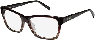 Trussardi 12510 Mens/Womens Designer Full-rim Flexible Hinges Popular Shape Stylish Upscale Eyeglasses/Glasses