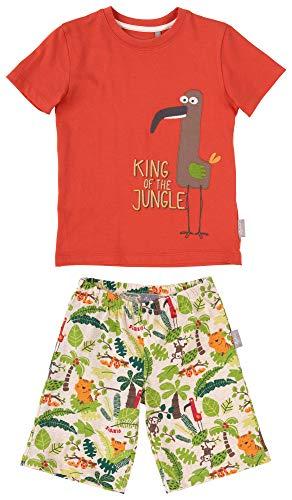 SIGIKID Mini - Mädchen und Jungen Schlafanzug, Hose und Shirt, 2-teiliger Pyjama aus Bio-Baumwolle, Größe 086 - 128