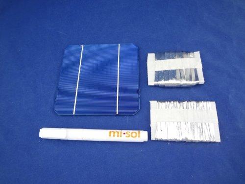 MISOL MONO 5X5 DIY KIT for solar panel: 40pcs MONO 5X5, Flux Pen, Tabbing Bus wire/cellules solaires monocristallines Pour Panneau solaire fil de soudure