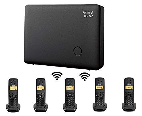Mini Centralita Gigaset con 5 teléfonos Inalámbricos