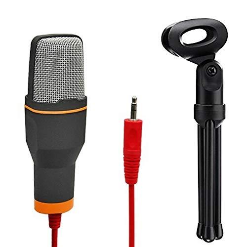 BLKykll pc-microfoon, condensatormicrofoon, voor netwerksingen, web-opname, online chatten, web-videoconferenties, online spel