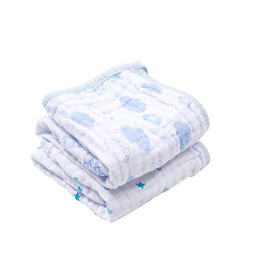 Paninho De Boca Soft Estampado, Papi Textil, Azul, 40Cmx40Cm, Pacote De 2