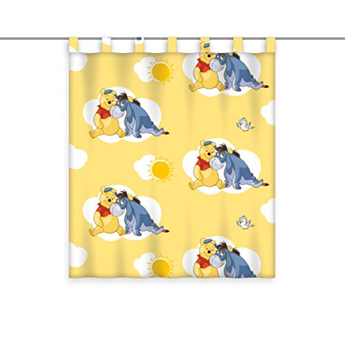 Herding Vorhang transparent Winnie Puuh, Polyester, Mehrfarbig, 160 x 140 cm