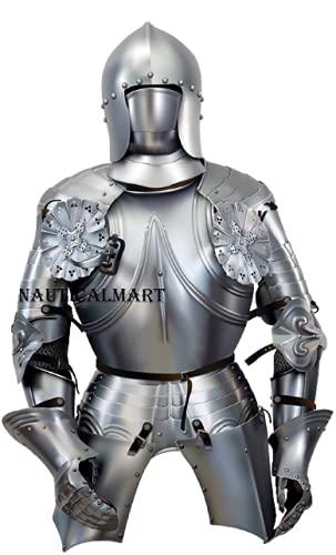 NAUTICALMART - Disfraz de Caballero Medieval de la Mitad de Armadura para Halloween