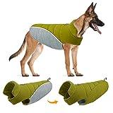 TVMALL Cappotto Giacca per Cani Reversibile Cappotti e Giubbotti per Cani Riflettente per Cani Cappotto di Sicurezza Inverno Freddo Calore Antivento Abbigliamento per Cani di Taglia Grande e Media