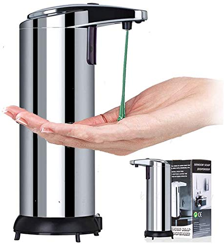 Fing Automatic Soap Dispenser Hand Sanitizer Dispenser Stainless Steel Countertop Hand Soap Dispenser Touchless Soap Dispenser Auto Dish Soap Dispenser Kitchen