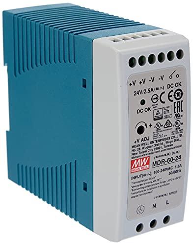 Meanwell MDR-60-24 AC-DC Firme de alimentación DIN Industrial DIN