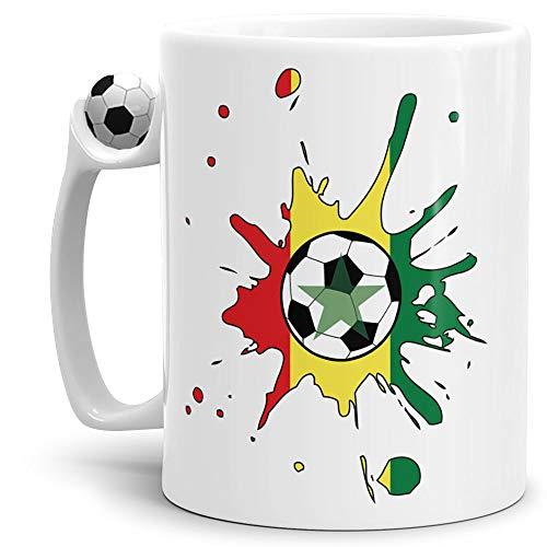 Tassendruck Flaggen-Tasse Zum Fussball Senegal Fussball-Tasse - Weltmeisterschaft/WM/Mug/Cup/Tor/Qualität Made in Germany