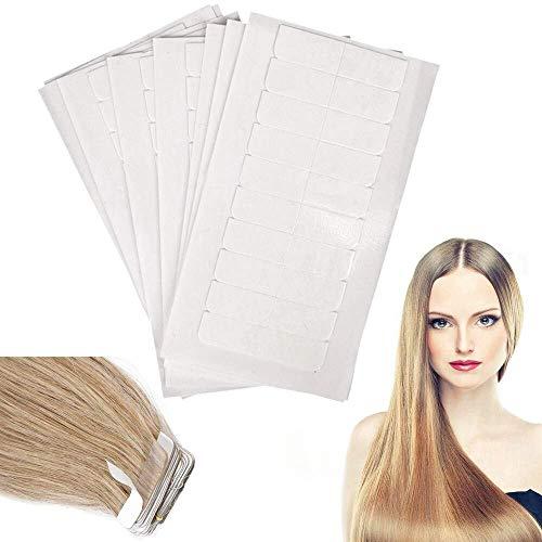 60 Ersatztapes Klebestreifen für Haareinschlag Tape In Hair Extensions, Hohe Klebekraft Klebeband, leicht zu entfernen