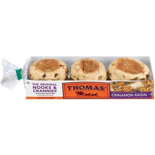 Thomas': Cinnamon Raisin 6 Ct English Muffins, 13 Oz Pack of 2