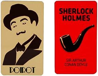 Books Etc Hercule Poirot + Sherlock Holmes Fridge Magnet Set (9.5 cm x 5.5 cm x 0.15 cm, Pack of 2)