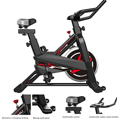 Indoor Exercise Bike, super Strong Load-Bearing 530lbs Comfortable Handle Safe Exercise Bike, Indoor Exercise