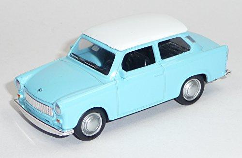 Generisch Trabant 601 hellblau mit weißem Dach Trabi Modellauto ca. 7,5 cm Neuware Welly