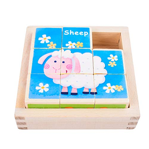 EKKONG Puzzles de Madera for Kids ,Animales Rompecabezas ,Juguetes Bebes, Jigsaw Wooden Puzzles Toy, Juguetes Montessori Puzzles,Juguetes niños 1 año 2 3 4 5 6 años , Best Birthday&Navidad