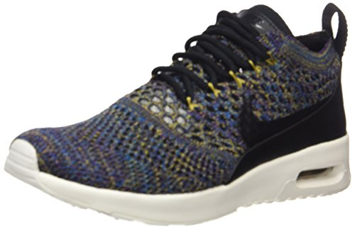 Nike Air Max Thea Ultra Flyknit Zapatillas para Mujer, Negro (Black / Black / Ivory / Night Purple), 39 EU (5.5 UK)
