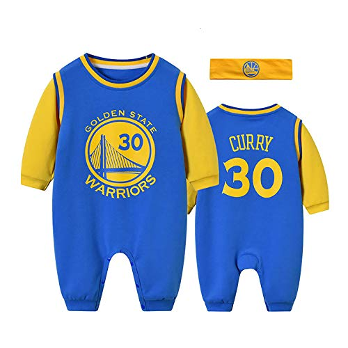 ZGRNB Aficionado a los Deportes Baby Basketball Jersey NBA Jumpsuit Creepers Stephen Curry 30 Lebron Raymone James 23 Chicago Bulls 23 Kobe Bean Bryant 24 Cardigan Rompers S-XXXL