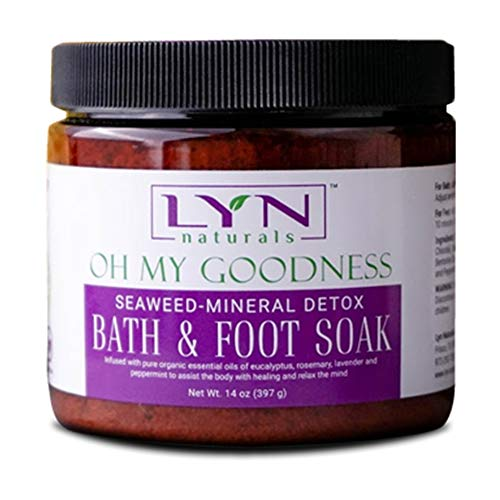 Lyn Naturals Oh My Goodness Seaweed-Mineral Bath Salts (Detox Bath and Foot Soak with Essential Oils)