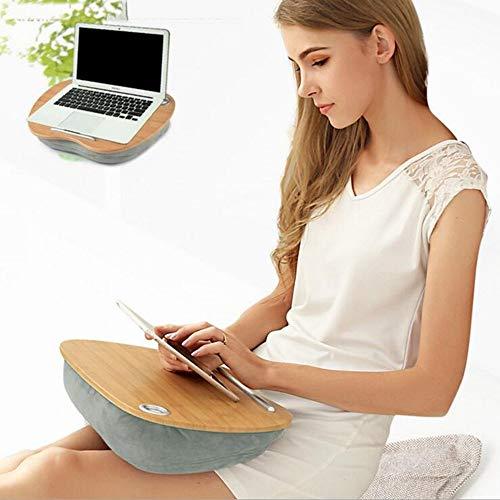 Jazi Zuhause/Möbel Dekoration Wandhalterung Zuhause Bamboo Lap Schreibtisch mit Laptop-Ablagefach Ideal für Bett Couchtisch Sofa Stuhl Klapptisch,Rosafarbene Kirsche