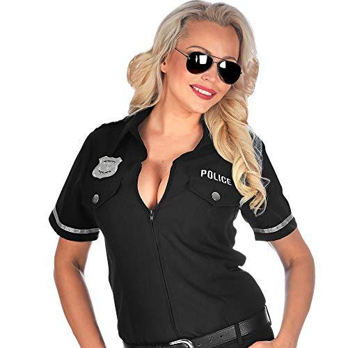 Widmann 09052 Polizistinnen Bluse, Damen, Schwarz, L/XL