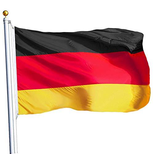 Banderas, Bandera De Alemania, La Bandera Nacional Alemana De Mal Tiempo Vivid Duradero Home Office Vector De La Decoración 90 * 150cm