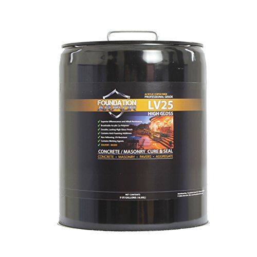 5 GAL Armor LV25 Solvent Based Acrylic Cure and Seal for New Concrete