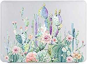 Cactus Flower Clear Case Fit MacBook Pro 13 inch Model A1502/A1425 (Retina, Early 2015/2014/2013/Late 2012) NO CD ROM, NO Touch Bar with Keyboard Cover