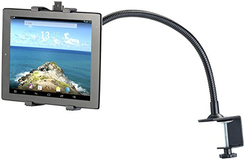 Callstel Schwanenhals iPad: Tischhalterung für Tablets & Smartphones mit Schwanenhals (iPad Halterung Schwanenhals)