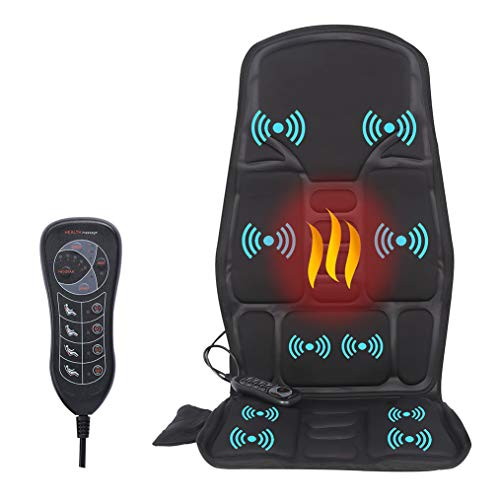 Vibration Back Massager, Back Massage Cushion, 10 Vibrating Nodes to Release Stress and Fatigue, for Home and Office Use