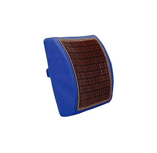 Cojín Asiento de Coche de Rebote rápido Cojín Lumbar Cojín Lumbar de Oficina Soporte para la Espalda (Color: Azul Oscuro)