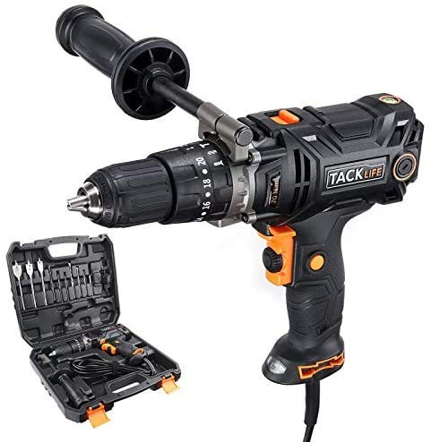 Hammer Drill, TACKLIFE Corded drill with Position...