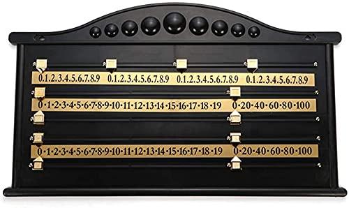 Snooker Score Board, Plastic Snooker Scoreboard Komplett mit Plastic Brass Scorer/Rails und Zeigern