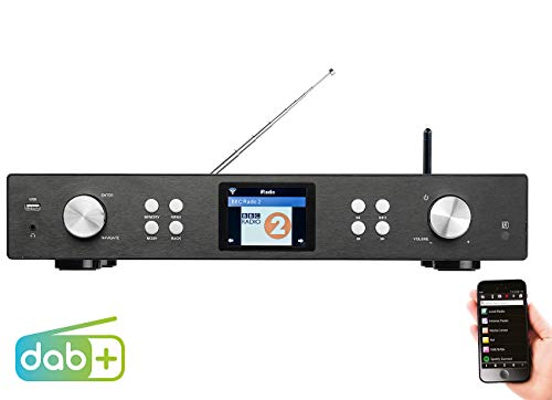 VR-Radio Internet Tuner: Digitaler WLAN-HiFi-Tuner mit Internetradio, DAB+, UKW, MP3, Streaming (HiFi Tuner für Internetradios DAB)