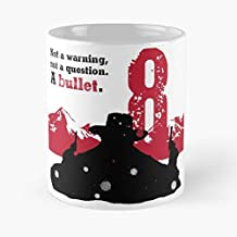 Seeyo Hateful Tarantino Quentin Eight Film White Red Black La Mejor Taza de café de cerámica Blanca de 11 oz