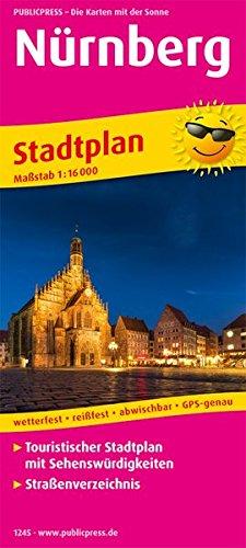 Nürnberg: Touristischer Stadtplan mit Sehenswürdigkeiten und Straßenverzeichnis. 1:16000 (Stadtplan: SP)