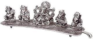 MSA JEWELS Metal Musical Ganesha Idol With Box, 12 Inch, Silver, Metalic