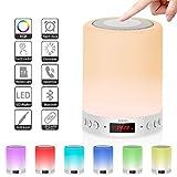 Lampe de Chevet Multifonction 5 en 1, Supporte Enceinte Bluetooth et la Fonction...