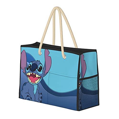 Lilo & Stitch Fashion Reise Strandtasche Große Kapazität Multifunktionale Faltbare Damen Handtasche Niedlich Anime Geschenk