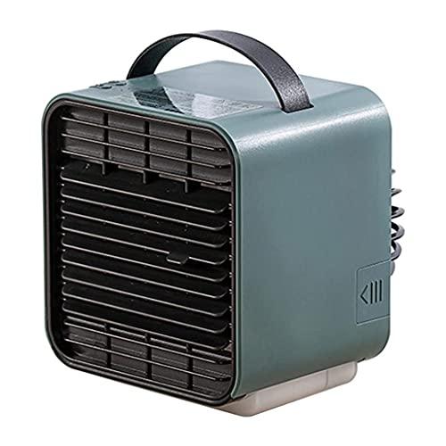 HGJINFANF Mini hogar aire acondicionado ventilador humidificador purificador USB refrigeración portátil ventilador de escritorio refrigerador silencioso ventilador con tanque de agua