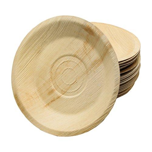 Emma´s Palmblatt Teller rund 22 cm, 25 mm Tief, 100 Stück