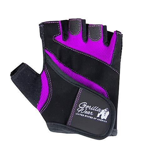 GORILLA WEAR Women's Fitness Gloves - schwarz/lila - Bodybuilding und Fitness Accessoire für Damen, M